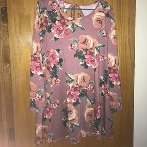 A. Byer Floral Sweater dress